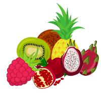 Frozen fruit purees