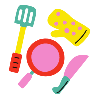 Confectionery and cooking utensils