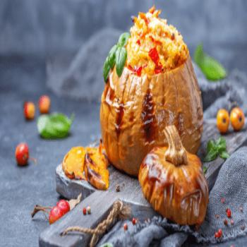 Pumpkin stuffed with couscous