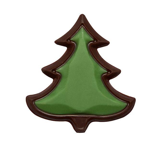 Decoratiuni de ciocolata neagra BRAD DE REVELION 3D 150 buc 0,372 kg 33840 BARB