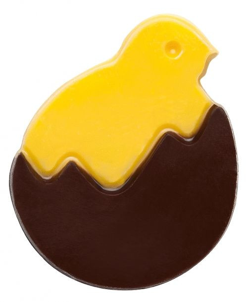Decoratiuni de ciocolata alba PUISOR IN OU NEGRU 240 buc. 0,6kg 33848 BARB