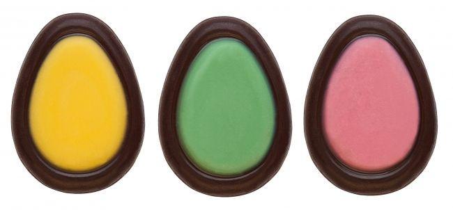 Decoratiuni din ciocolata neagra Oua 3D 0,6kg 33850  BARB