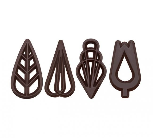 Decoratiuni din ciocolata SOIREE DARK 610 buc. 0.460kg 33103 BARB