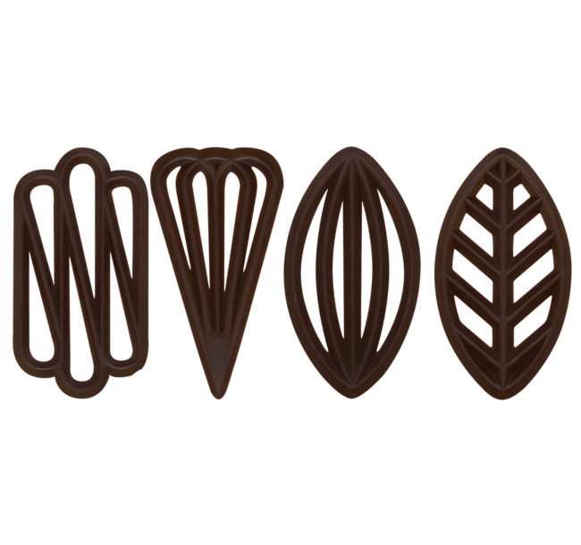 Decoratiuni din ciocolata neagra SPECIAL 575 buc.0.65kg 33101 BARB
