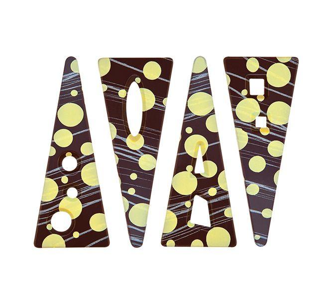 Decoratiuni din ciocolata Twist 132 buc. 0,54 kg 33836 BARB