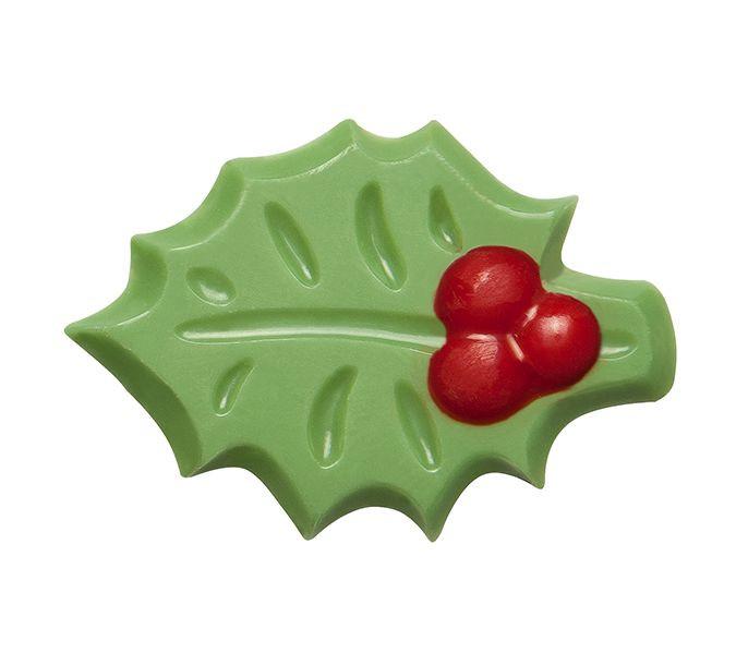 Decoratiuni din ciocolata HOLLY LEAF 3D VERDE set 240 buc 0,45kg 33827 BARB