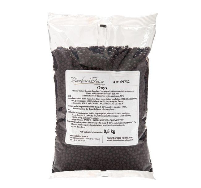 Orez expandat in ciocolata neagra ONYX  0,5kg 09732  BARB