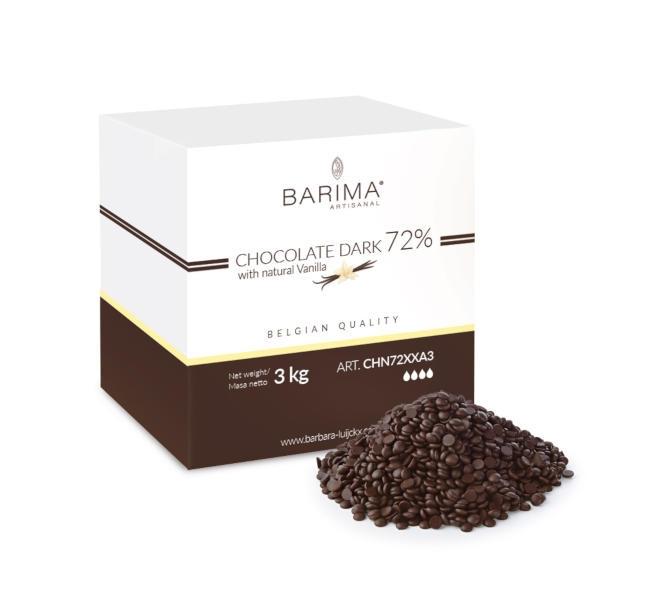 Ciocolata neagra 72% 3 kg CHN72XXA3 BARB