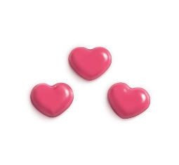 Decoratiuni din ciocolata roz HEARTS 0,248g 33967 BARB