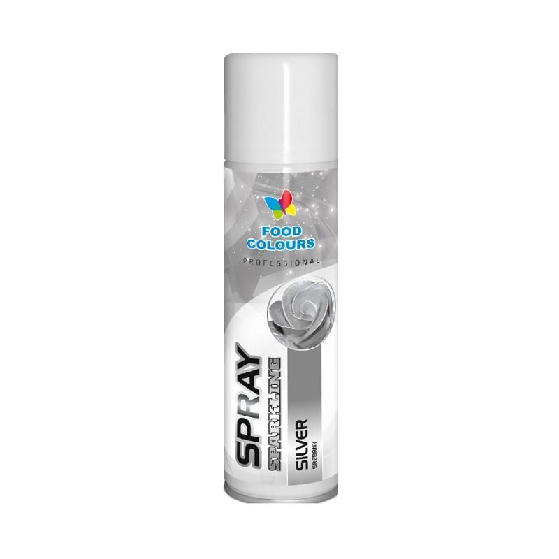 Colorant spray alimentar 250ml Argentiu S10 FC