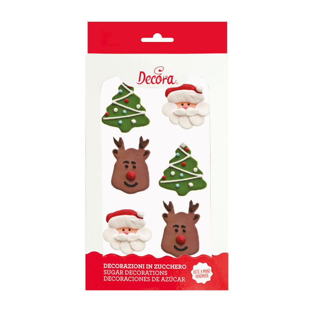 Decoratiuni din zahar CHRISTMAS set din 6 buc. 0500351 DER