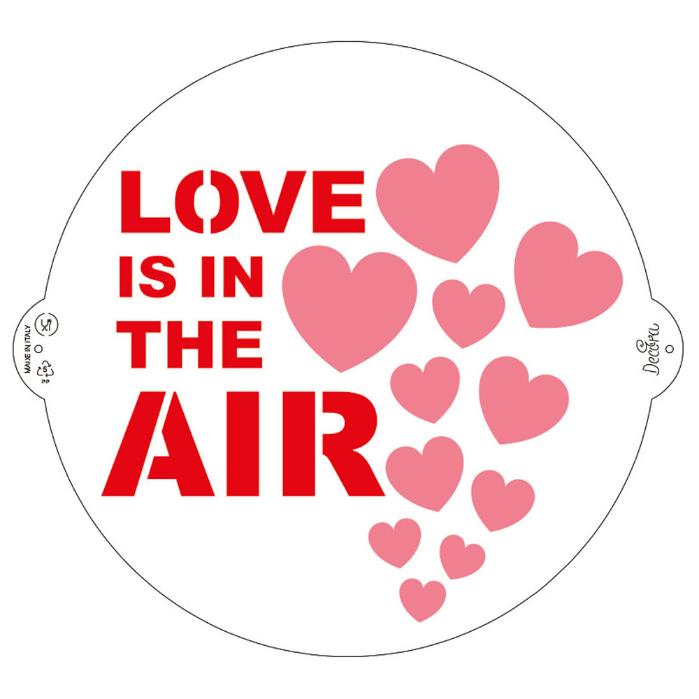 LOVE IS IN THE AIR STENCIL 25cm 9270937 DER