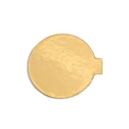 Platou auriu/negru rotund din carton D 10 cm  3CA2300101N_BND