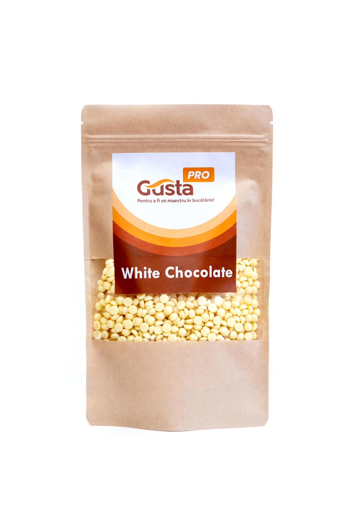 Ciocolata alba belgiana 29% GustaPro 1kg