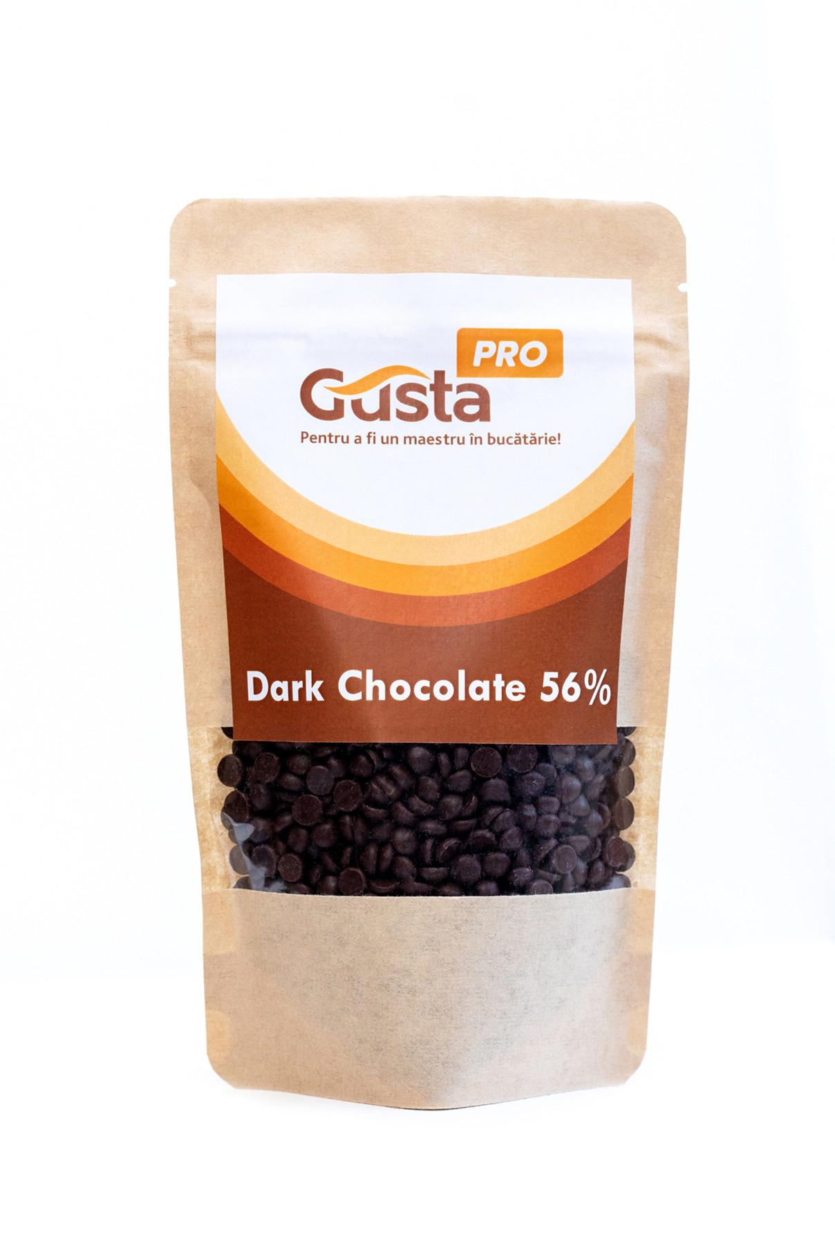 Ciocolata neagra belgiana 56% GustaPro 250 g
