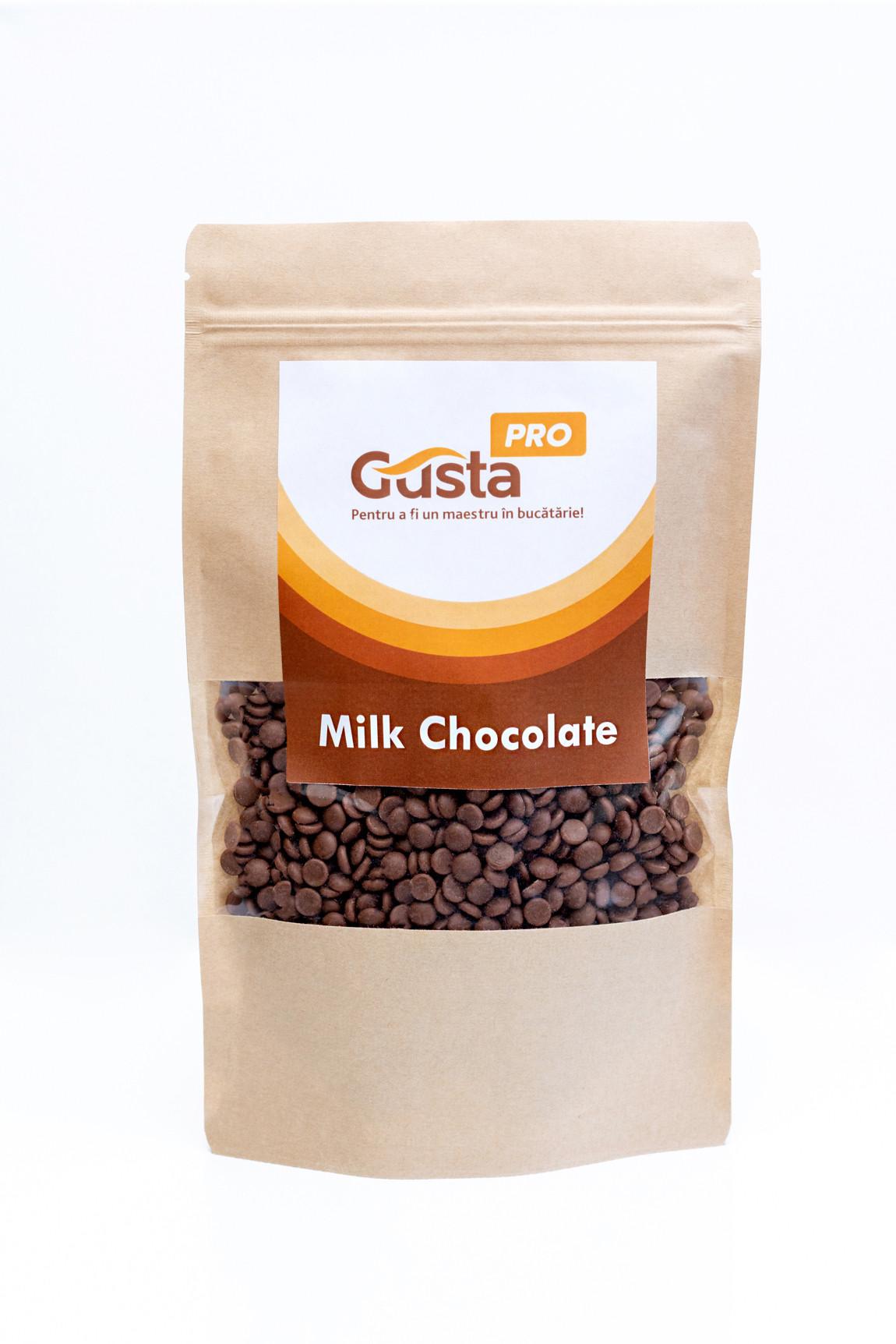 Ciocolata cu lapte belgiana 34%  GustaPro 250g