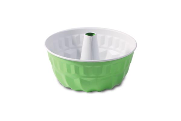 "Tava de copt rotunda 220 mm cu tub ""non-stick"" verde - gri  990-70/10 SNB"