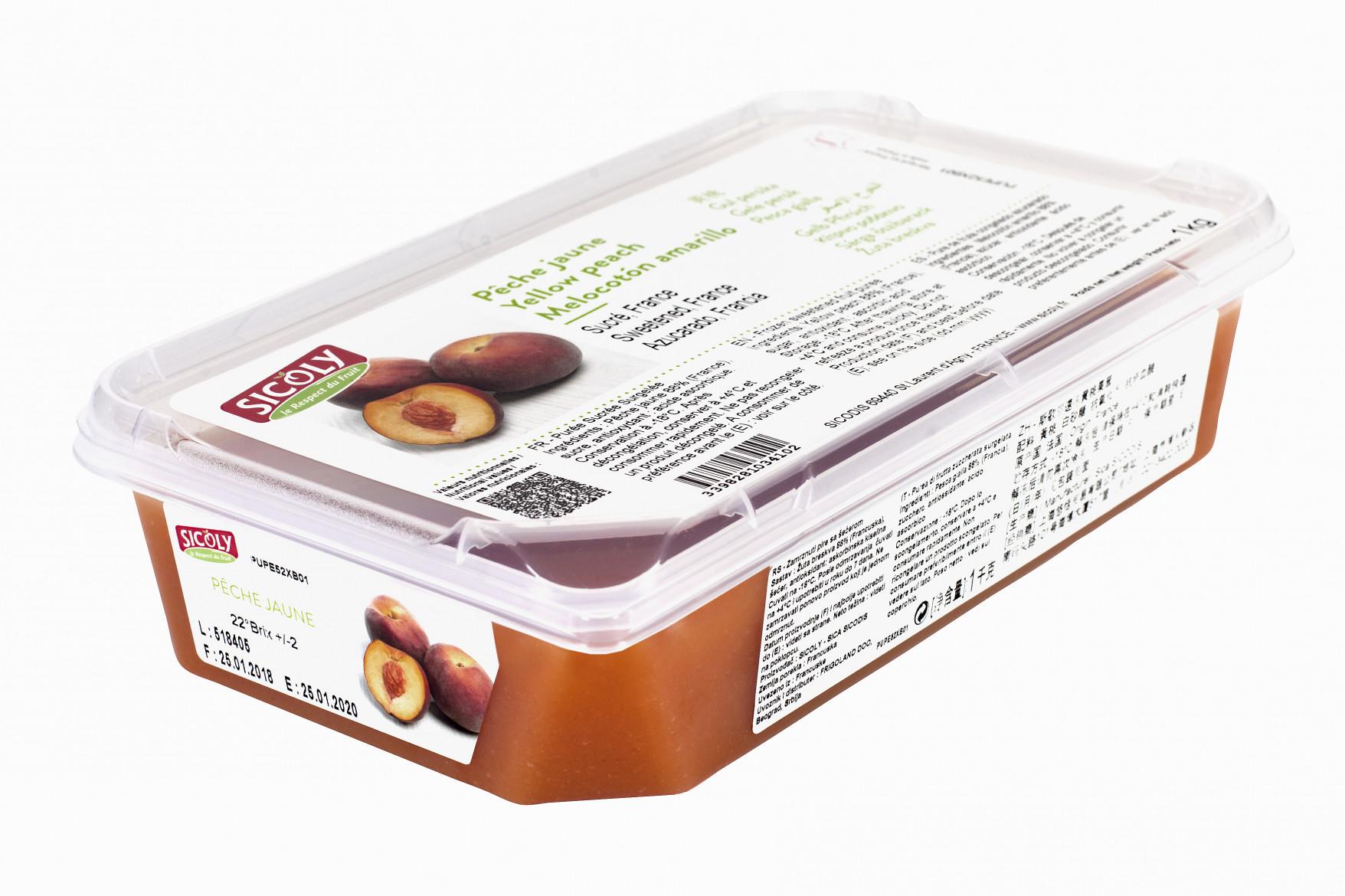 Piure de Piersici galbene, 1kg, Sicoly