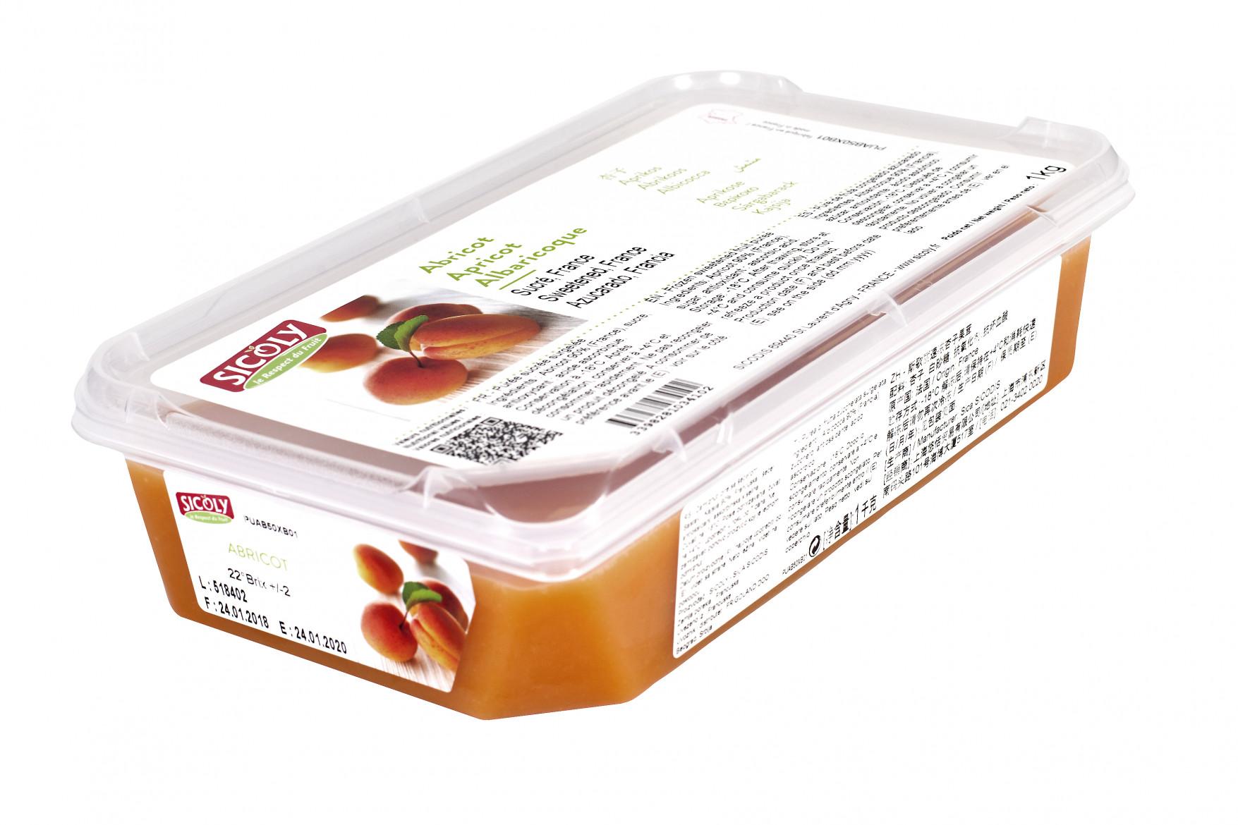 Piure de caise congelat, 1kg, Sicoly