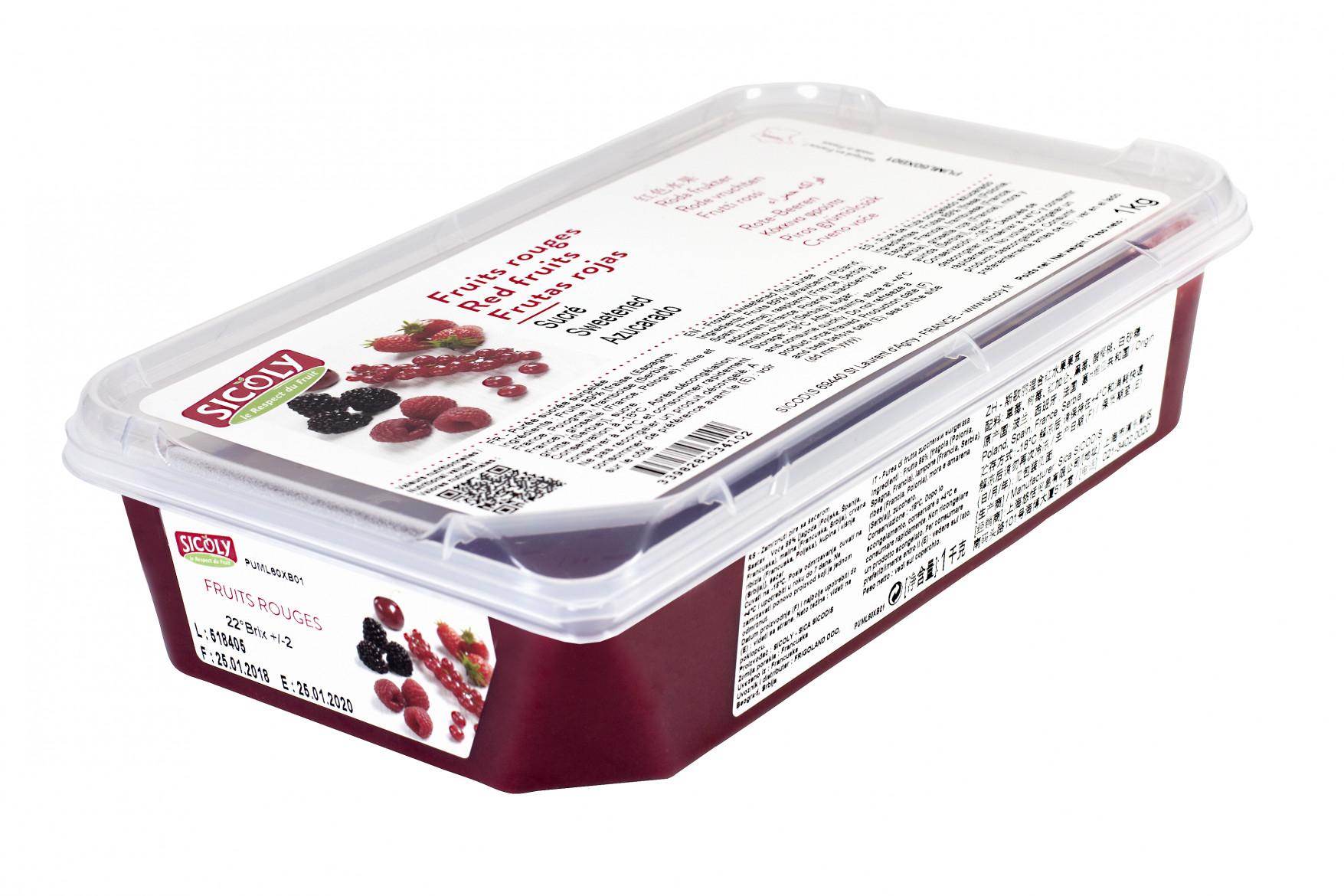 Piure de mix de fructe rosii, 1kg, Sicoly