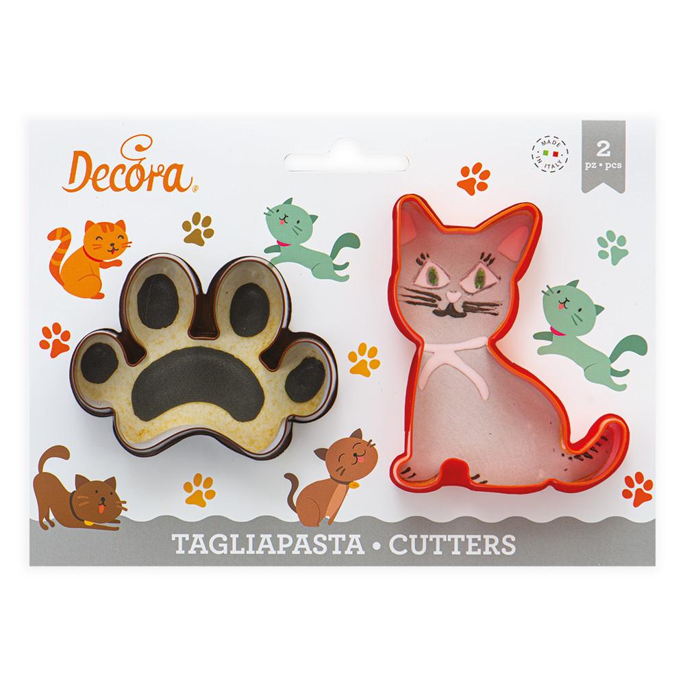 Decupatoare din plastic  Cat and Print   2buc/set 0255210 DER