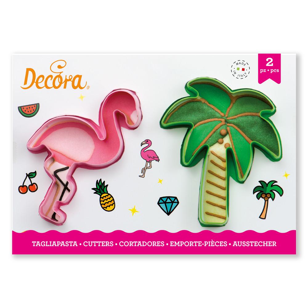 Decupatoate din plastic FLAMINGO AND PALM 0255071 DER
