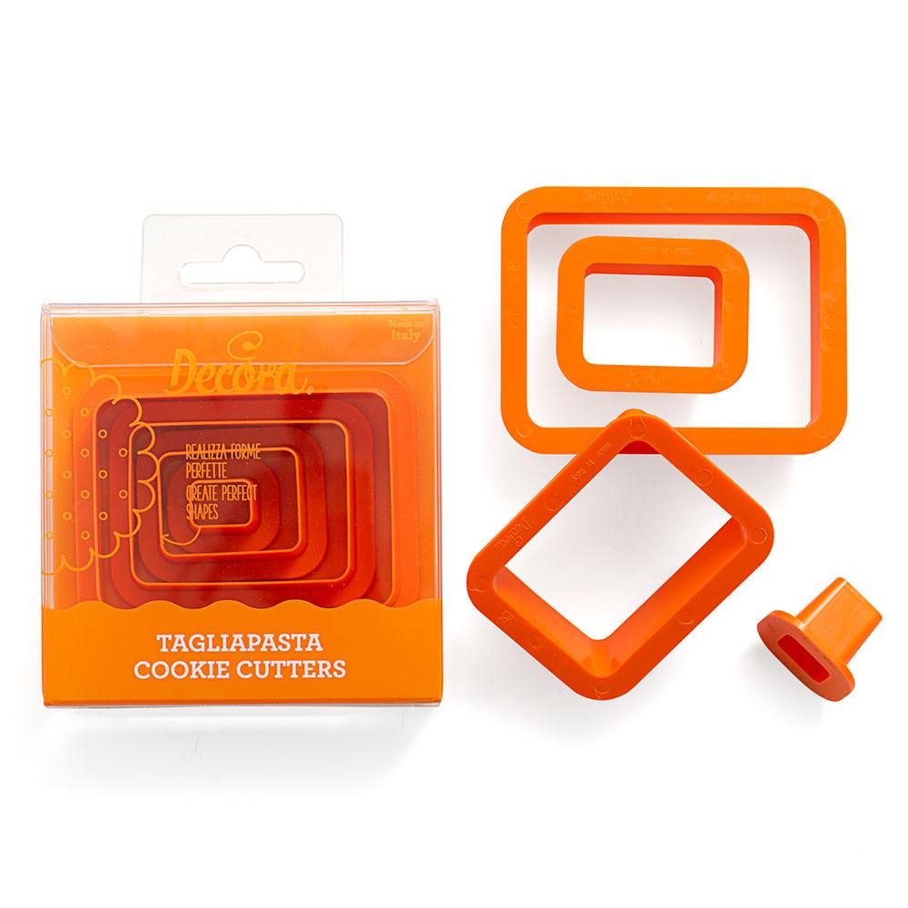 Decupatoare din plastic RECTANGULAR 4 buc in set 0255309 DER