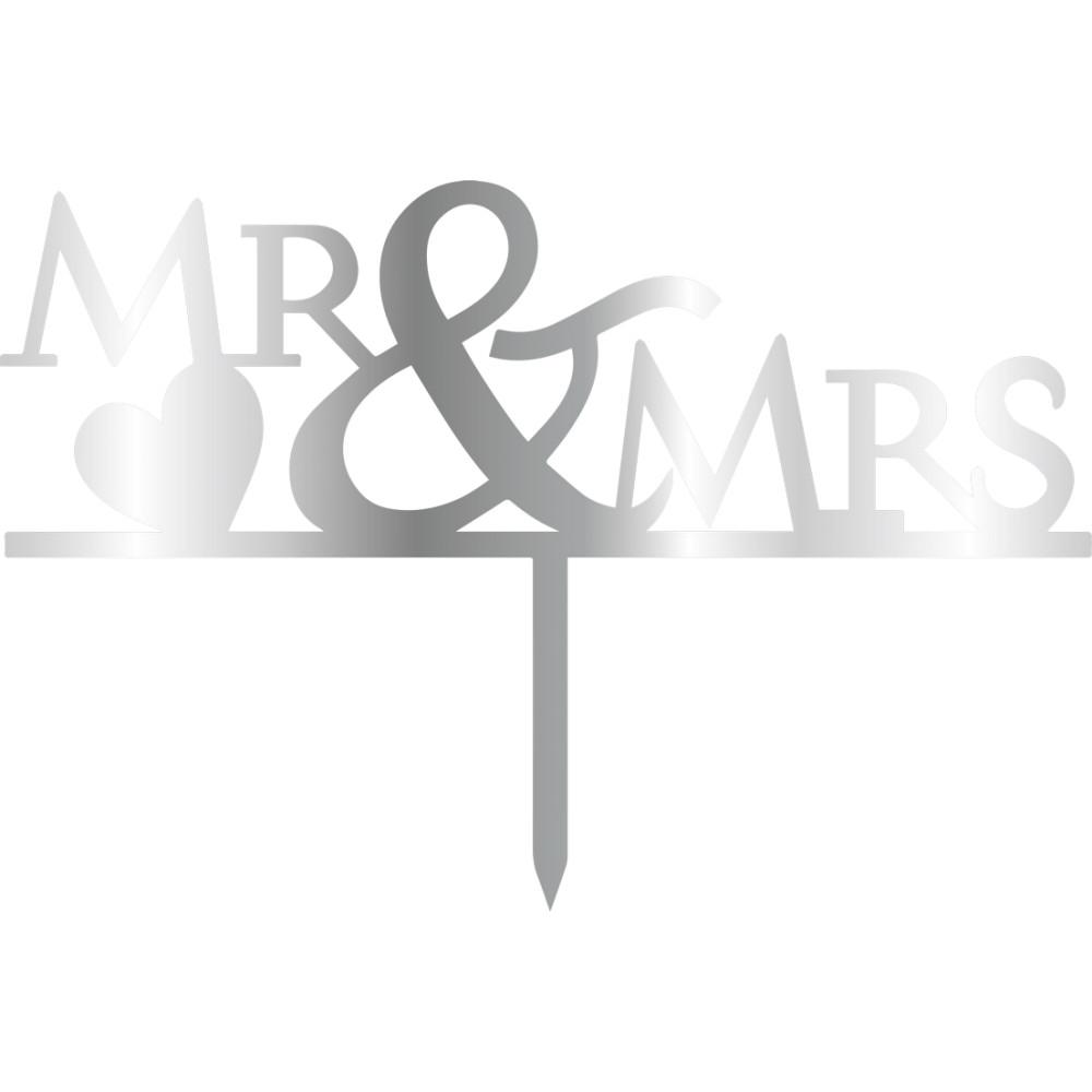 Topper - Mr & Mrs/Argintiu 125*165 mm 14060  CSL