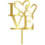 Topper - Imina LOVE/Aur 185x185 mm 14017 CSL
