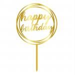 Topper - Happy Birthday Cerc/Auriu 14882  CSL