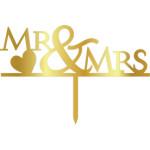 Topper - Mr & Mrs /Golden 125*165 mm 14024 CSL