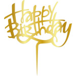 Topper - Happy Birthday/aur 165*165mm 14006 CSL