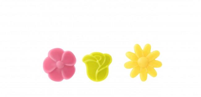 Decoratiuni din ciocolata Mini Flowers Color 0,049kg 339961 BARB