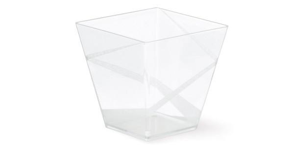 Pahar catering DECO 200 ml cristal transparent patrat 261100180 ACS 400 buc