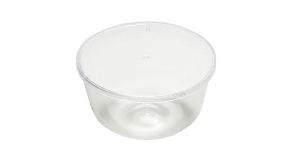 Vas cu capac transparent 1000 ml din polistiren 25 buc/set 103001060103/6 ALC