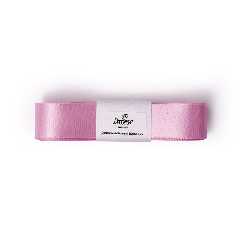 Banda dublu satinata 25mm * 3 m Baby Pink  0314941 DER