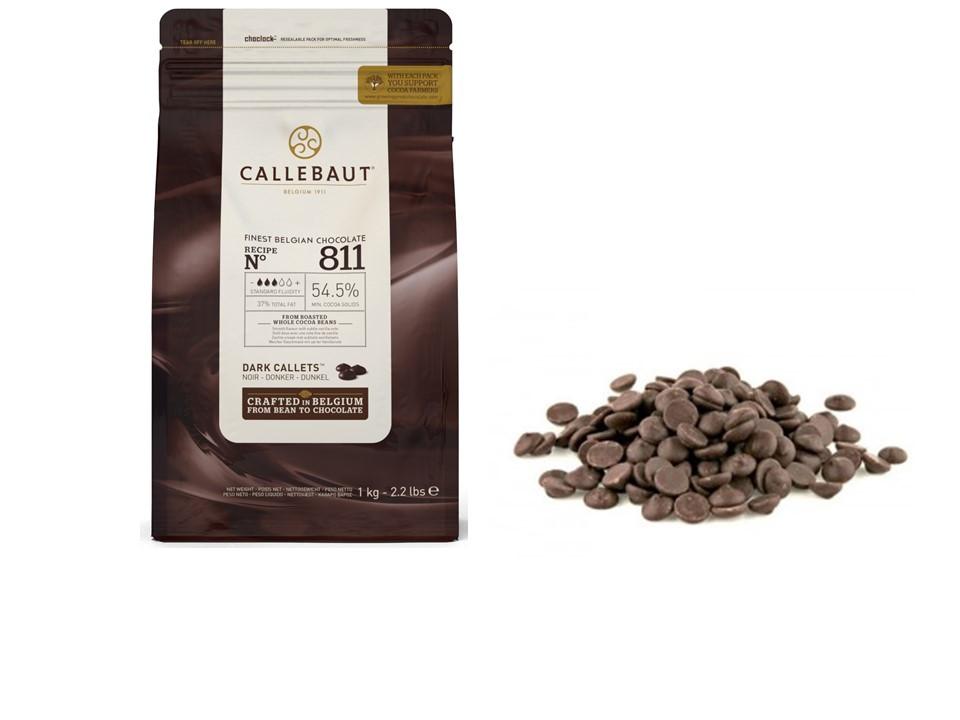 Ciocolata neagra 54,5% cacao 811 1kg Callebaut