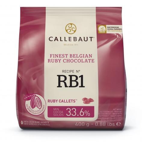 Ciocolata Ruby RB1 47,3% cacao 0.4kg Callebaut