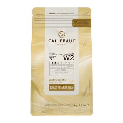 Ciocolata alba 28% unt de cacao W2 1kg Callebaut