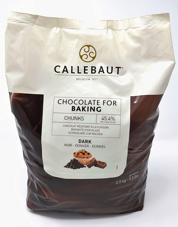 Ciocolata neagra termostabila 45,4% cacao 2,5kg Callebaut