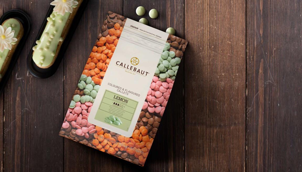 Ciocolata  alba cu aroma de lamaie 33,7% grasimi 2,5kg Callebaut