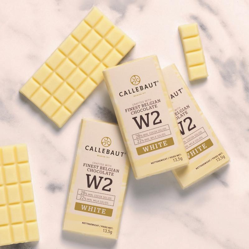 Set de 75 minitablete ciocolata alba W2 Napolitains 13,5g/buc Callebaut