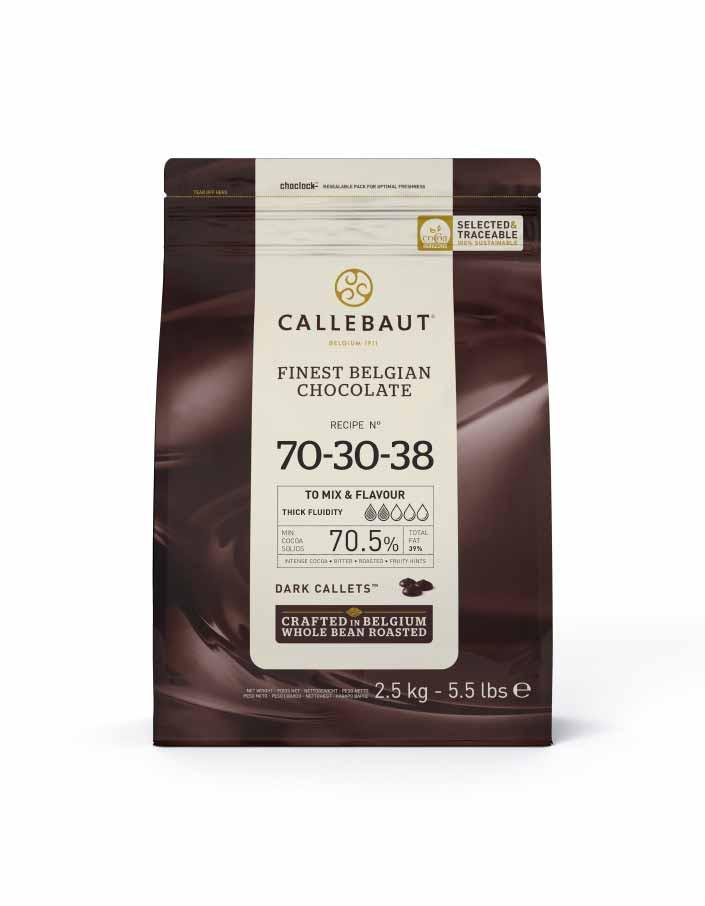 Ciocolata neagra 70,5% 2,5 kg Callebaut