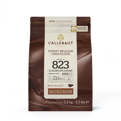 Ciocolata cu lapte 33,6% cacao 823 2,5kg Callebaut