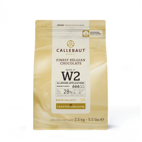 Ciocolata alba 28% cacao 2.5kg Callebaut