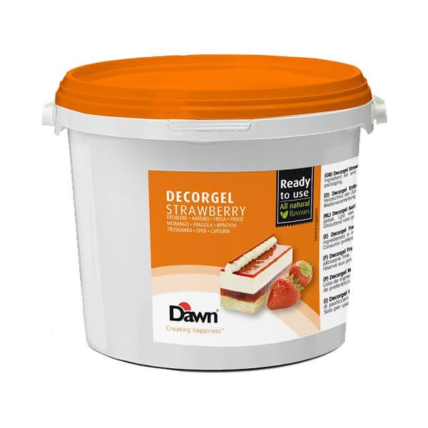 Glazura capsuna  Decorgel 3 kg DAWN