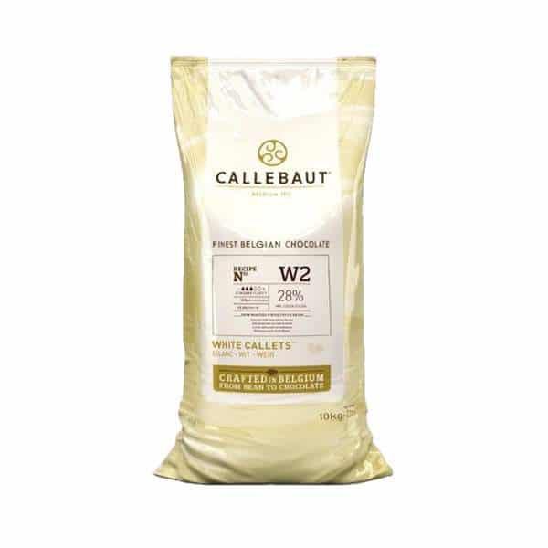 Ciocolata alba 28% cacao 10 kg Callebaut