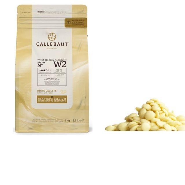 Ciocolata alba 28% cacao 1kg Callebaut