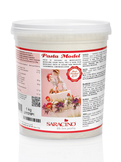 Pasta de modelaj  albă 1 kg DEC007K1_SARACINO