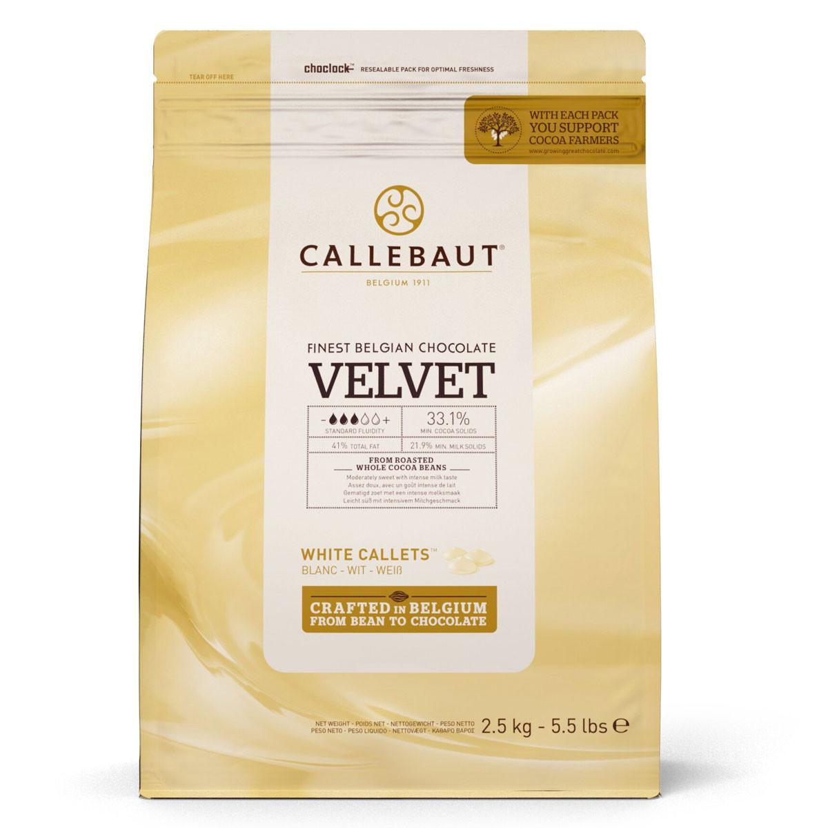 Ciocolata alba VELVET 33,1% cacao 2.5kg Callebaut